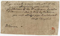 Eliza Campbell's Payment Reminder to the St. Andrew's Society