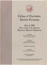 College of Charleston Awards Ceremony, May 13, 1989