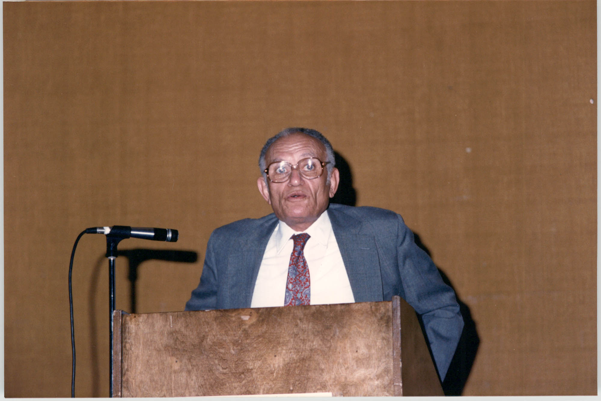 Photograph of Felder C. Hutchinson at a College of Charleston Event