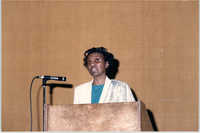 Photograph of Altimeze K. McGriff at a College of Charleston Event
