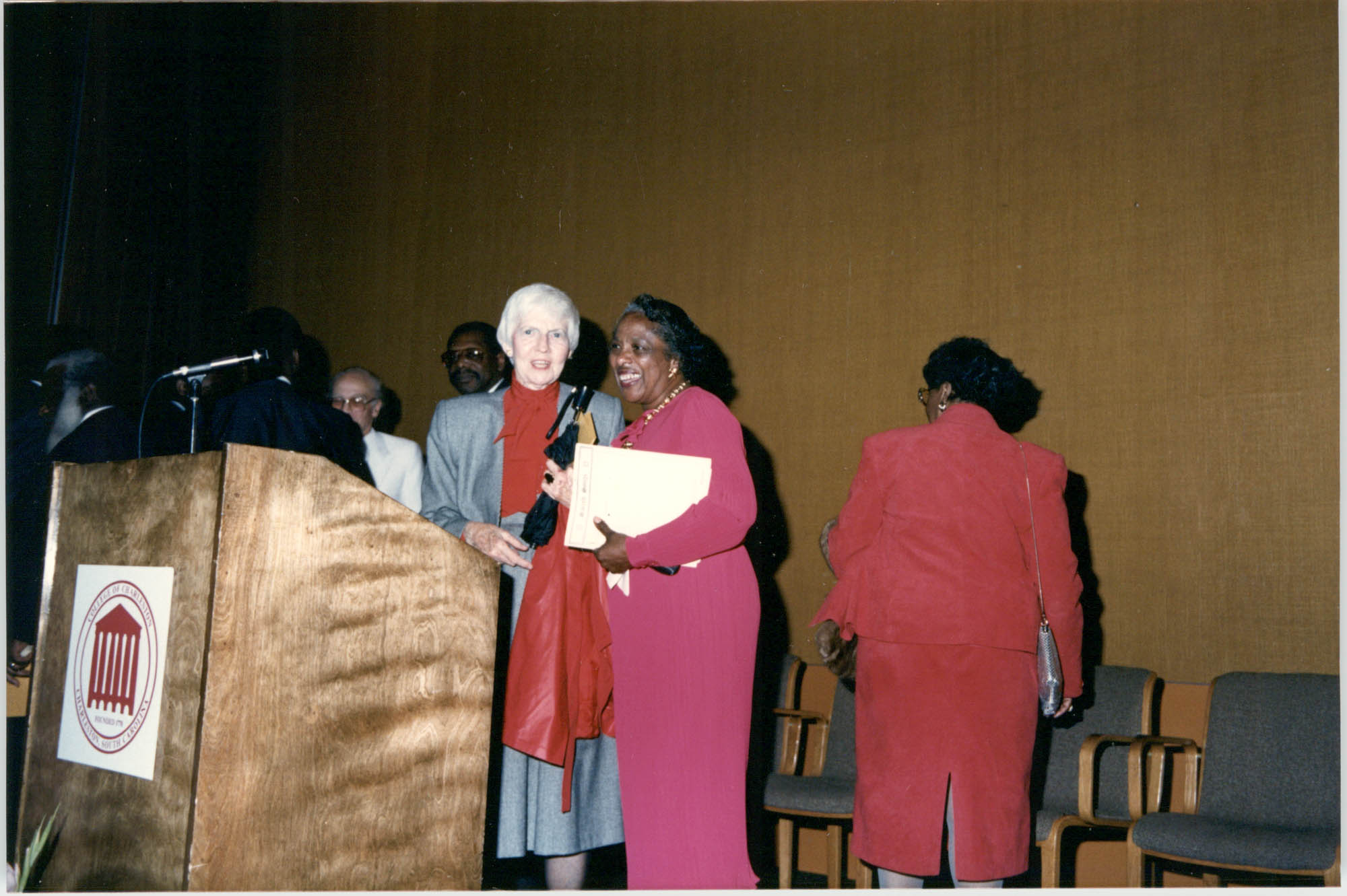 Photograph of People at a College of Charleston Event