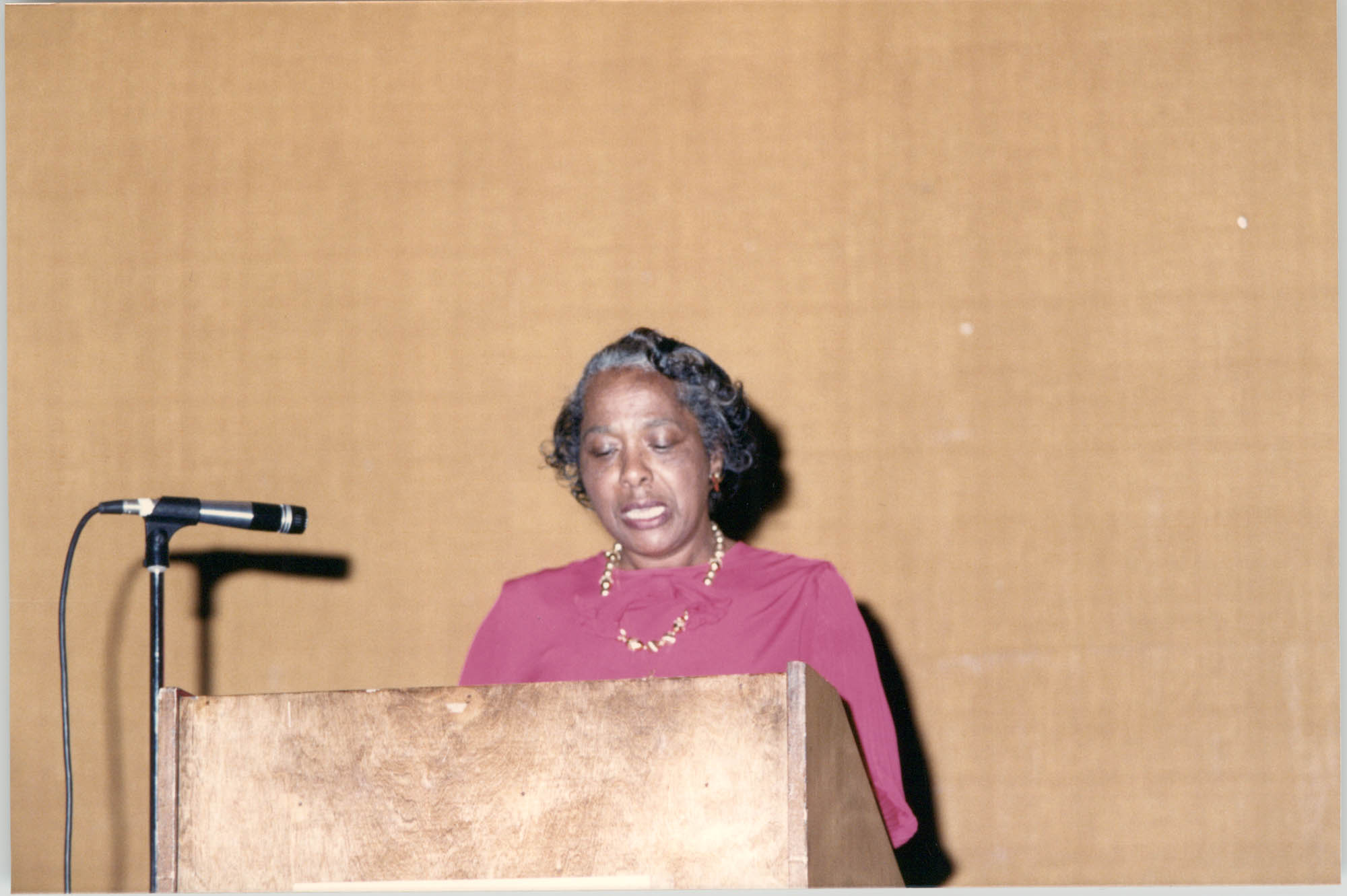 Photograph of a Woman at a College of Charleston Event