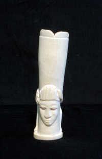 Ivory flower vase