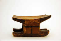 Wooden nkumbi stool