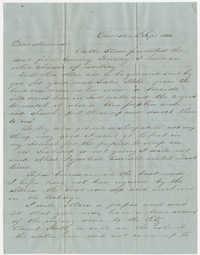 450.  Edward Barnwell to Catherine Osborn Barnwell -- September 11, 1854