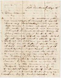 420.  Edward Barnwell to Catherine Osborn Barnwell -- ca. 1852