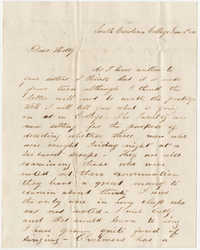 400.  Edward Barnwell to Esther Hutson Barnwell -- June 14, 1850