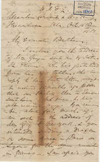 436. Madame Baptiste to Bp Patrick Lynch -- October 16, 1866