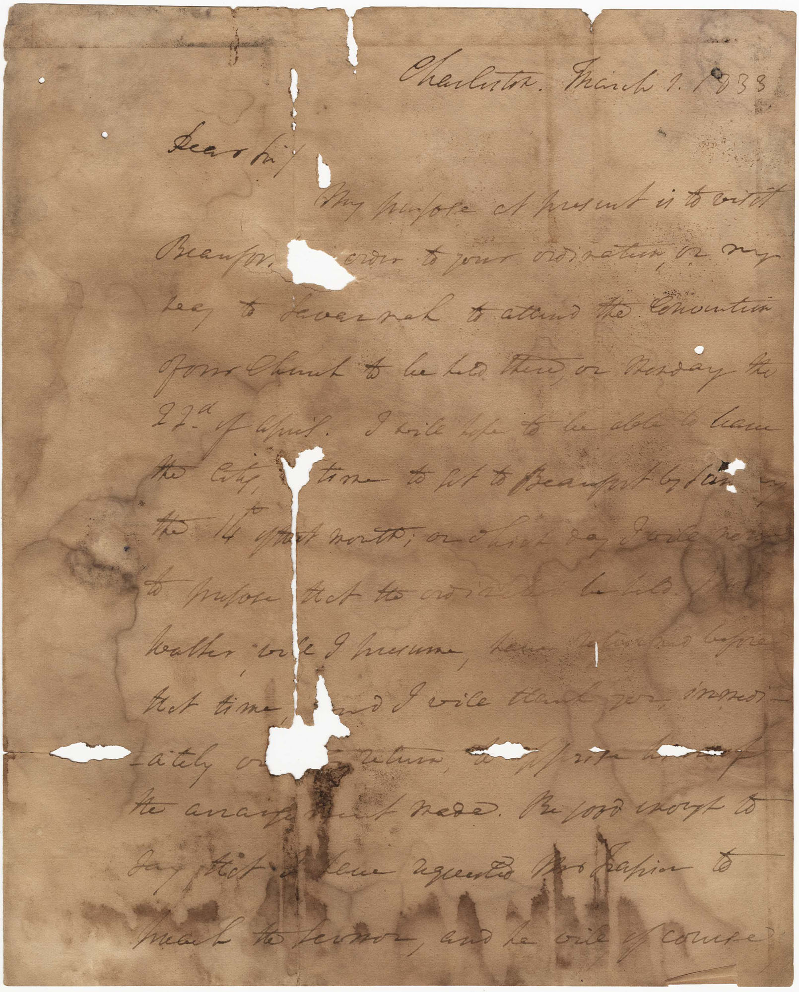 014.  Nathaniel Bowen to William H. W. Barnwell -- March 1, 1833