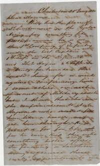 467.  Edward Barnwell to Catherine Osborn Barnwell -- January 25, 1861