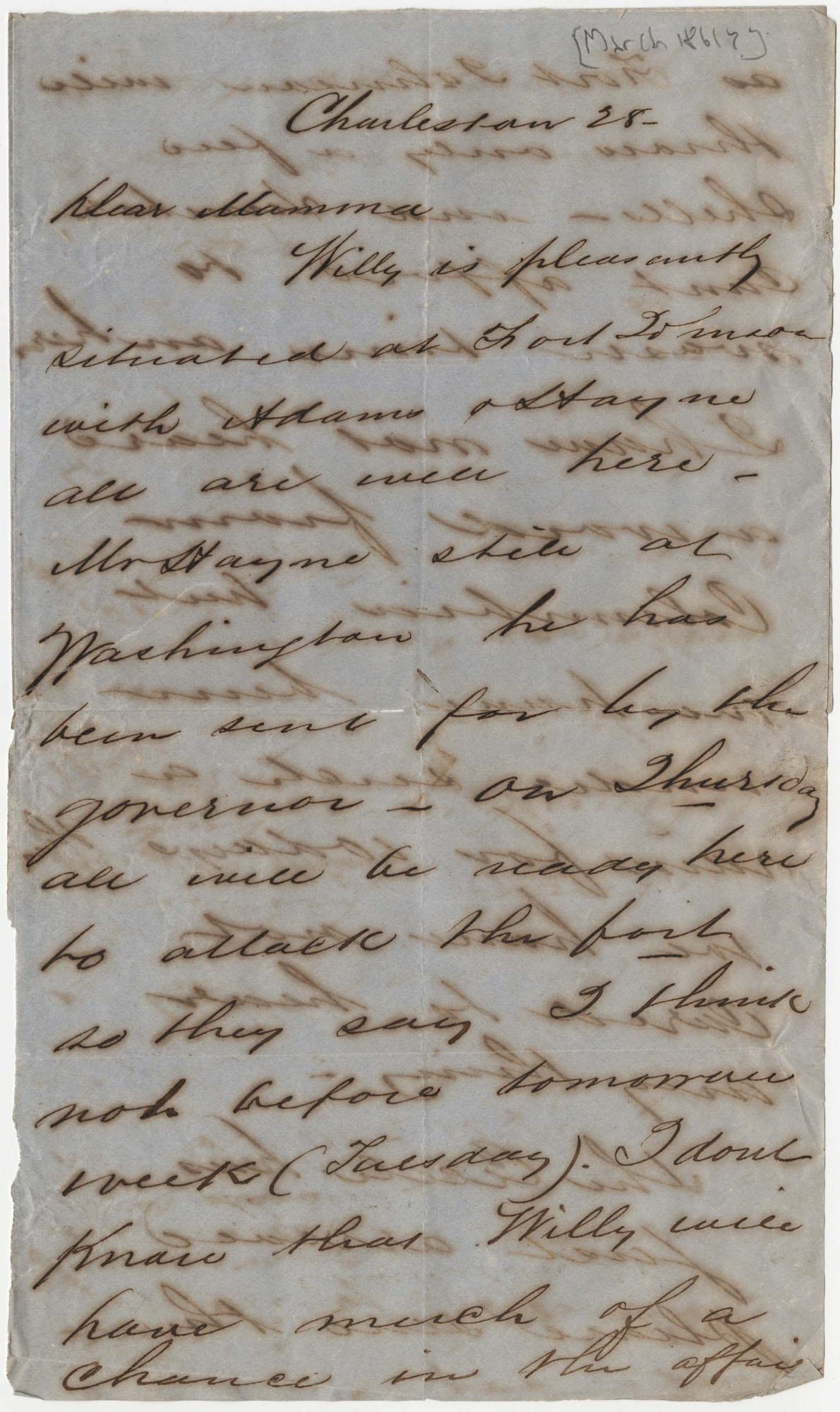 468.  Edward Barnwell to Catherine Osborn Barnwell -- 1861