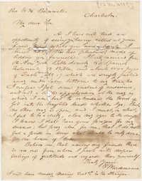085.  F. Wurdemann to William H. W. Barnwell -- December, 1845