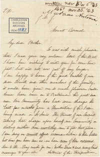 320. Madame Antonia to Bp Patrick Lynch -- November 6, 1863