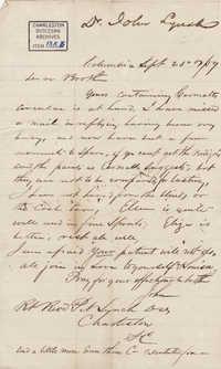 077. John Lynch to Bp Patrick Lynch -- September 23, 1859