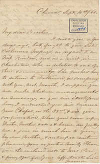 429. Anna Lynch to Bp Patrick Lynch -- September 16, 1866