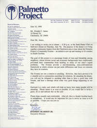 Letter from Stephen Skardon Jr. to Dwight C. James, June 16, 1994