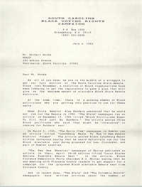 Letter from Jesse Taylor to Delbert Woods, July 6, 1983