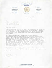 Charleston Chapter of the NAACP Fundraising Letters, March 3, 1989
