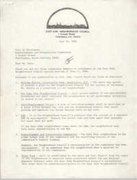 Letter from Arthur K. Maybank to Charleston Redevelopment and Preservation Commission, June 16, 1986