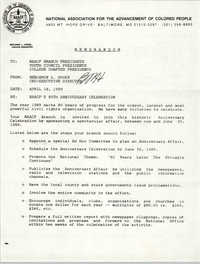 NAACP Memorandum, April 18, 1989