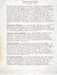 Minutes, Charleston Branch of the NAACP, Executive Board Meeting, January 8, 1991