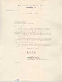 Letter from E. W. Brice and Howard Jordan, Jr. to Eugene C. Hunt, December 5, 1949