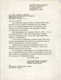 Letter from Martha Meriwether to Keith Thompson, September 10, 1976