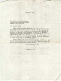 Letter from Eugene C. Hunt to John F. Potte, April 17, 1959