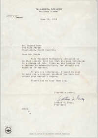Letter from Arthur D. Gray to Eugene C. Hunt, June 19, 1959