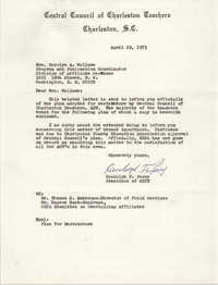 Letter from Randolph F. Perry to Carolyn A. Wallace, April 29, 1973