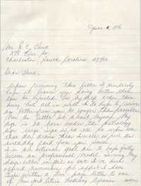 Letter from Steven P. Williams to Eugene C. Hunt, May 30, 1976
