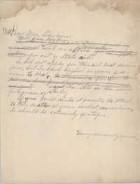 Letter from Eugene C. Hunt to