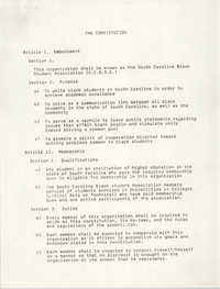 South Carolina Black Student Association Constitution