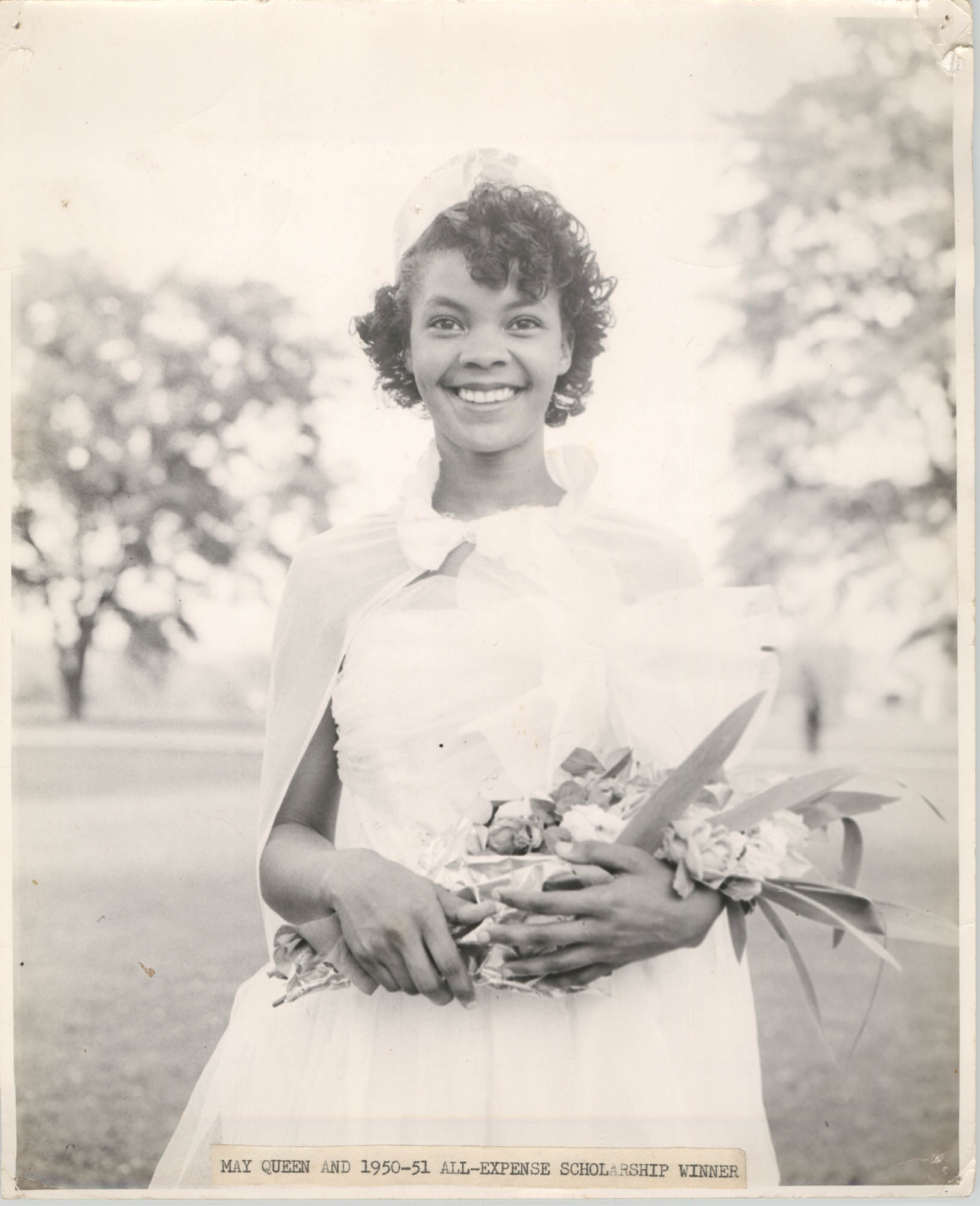 Photograph of May Queen and 1950-51 All-Expense Scholarship Winner at Talladega College