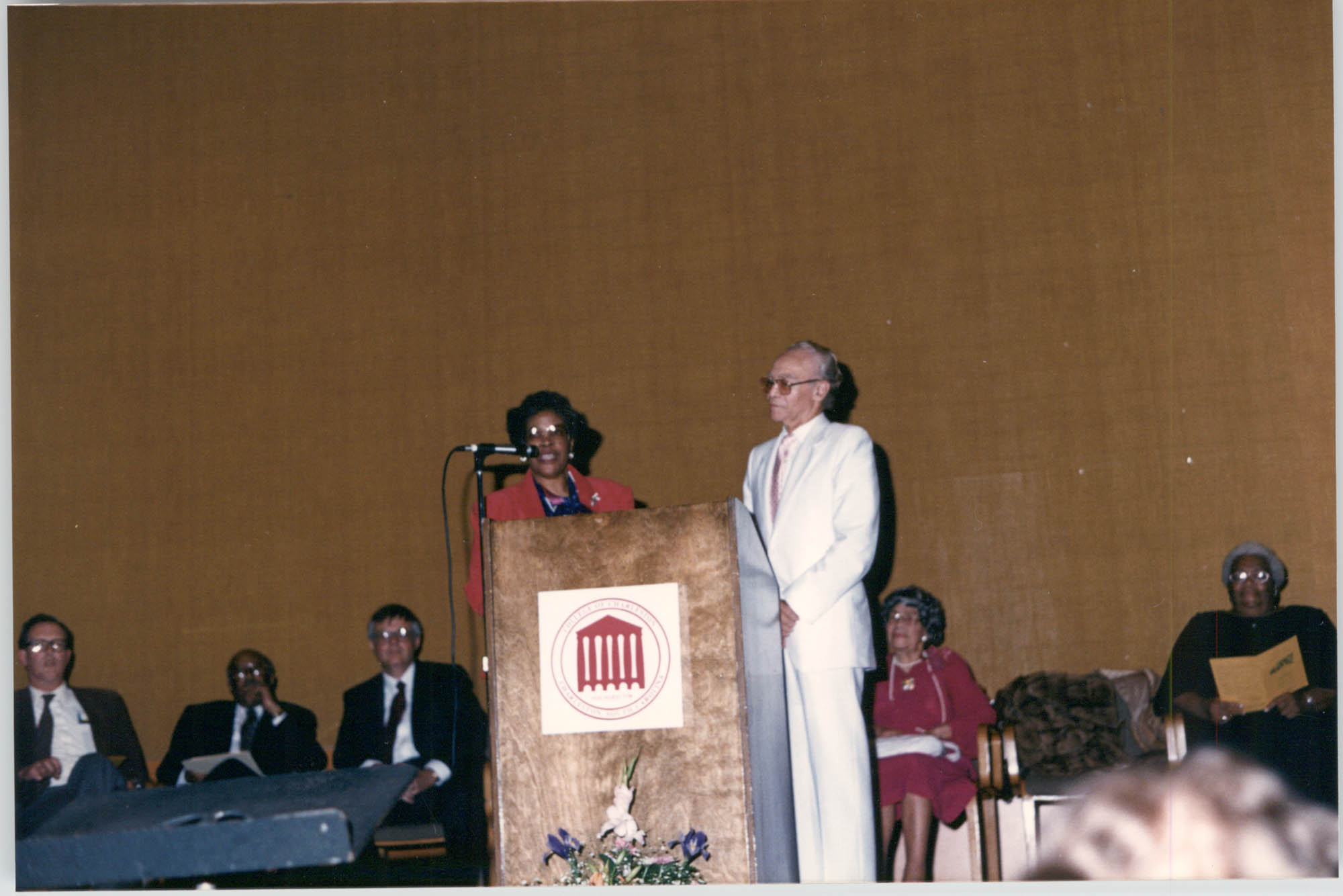 Photograph of Eugene Hunt at a College of Charleston Event
