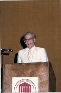 Photograph of Eugene C. Hunt at a College of Charleston Event