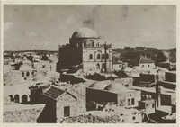 ירושלים, העיר העתיקה עם בית הכנסת תפארת ישראל 1930 / Jerusalem, the Jewish Quarter of the Old City in 1930