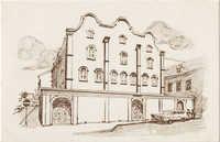 Historic Mikve Israel-Emanuel Synagogue. Oldest in Western Hemisphere. Dedicated in 1732.