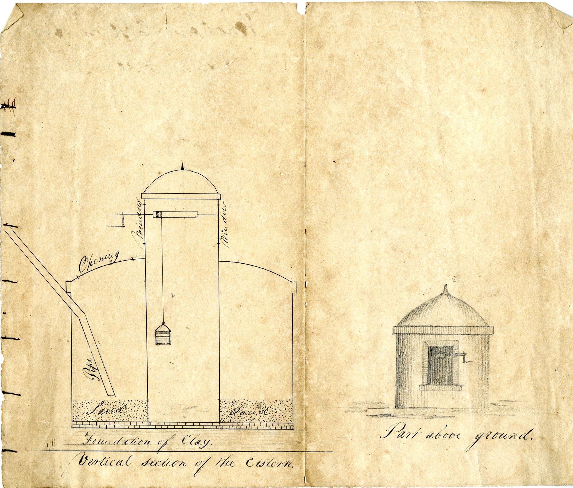 Venetian cistern for rainwater
