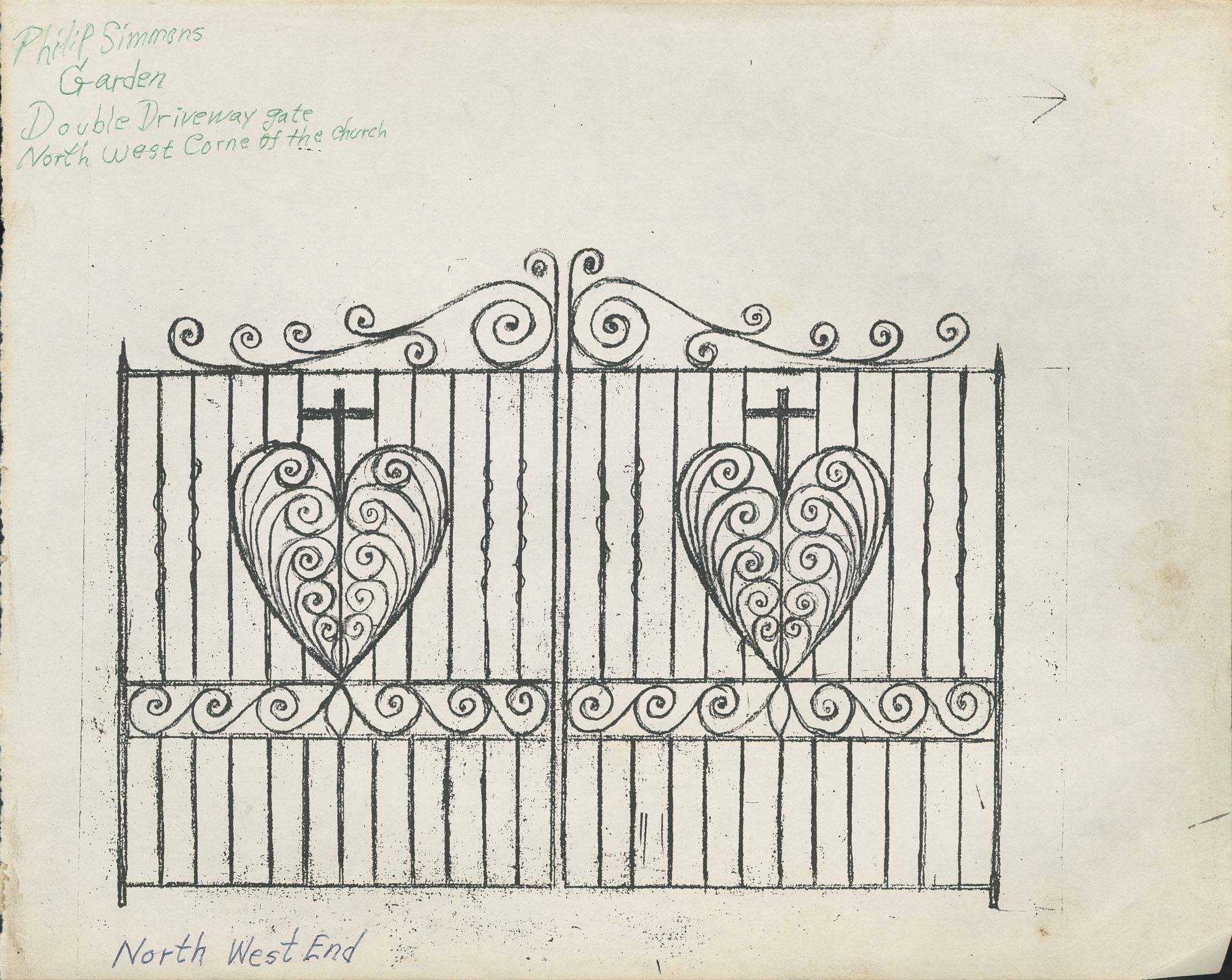 91 Anson Street double driveway gate