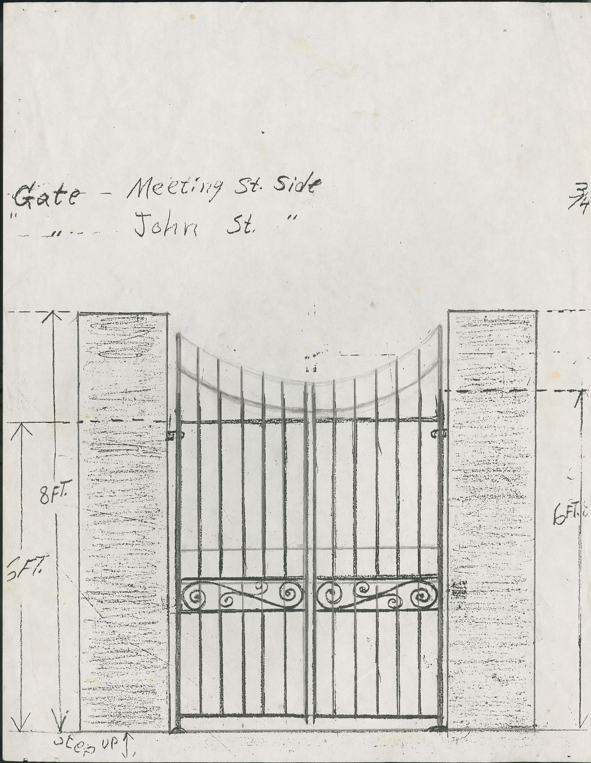 Meeting Street side/John Street gate