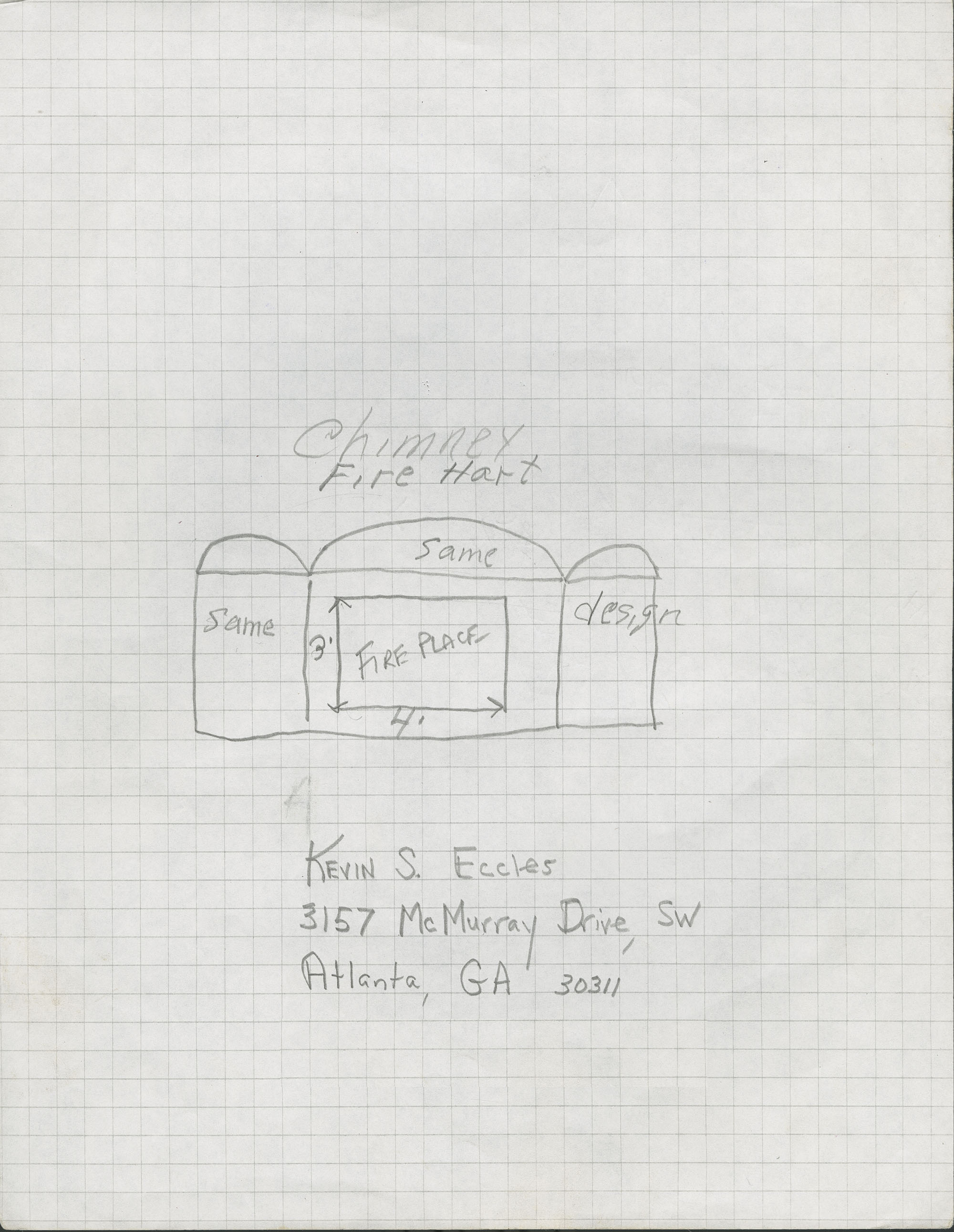 3157 McMurray Drive, SW, Atlanta, Georgia fireplace gate