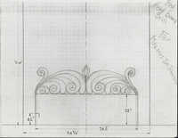 Johnson commission bed headboard grill
