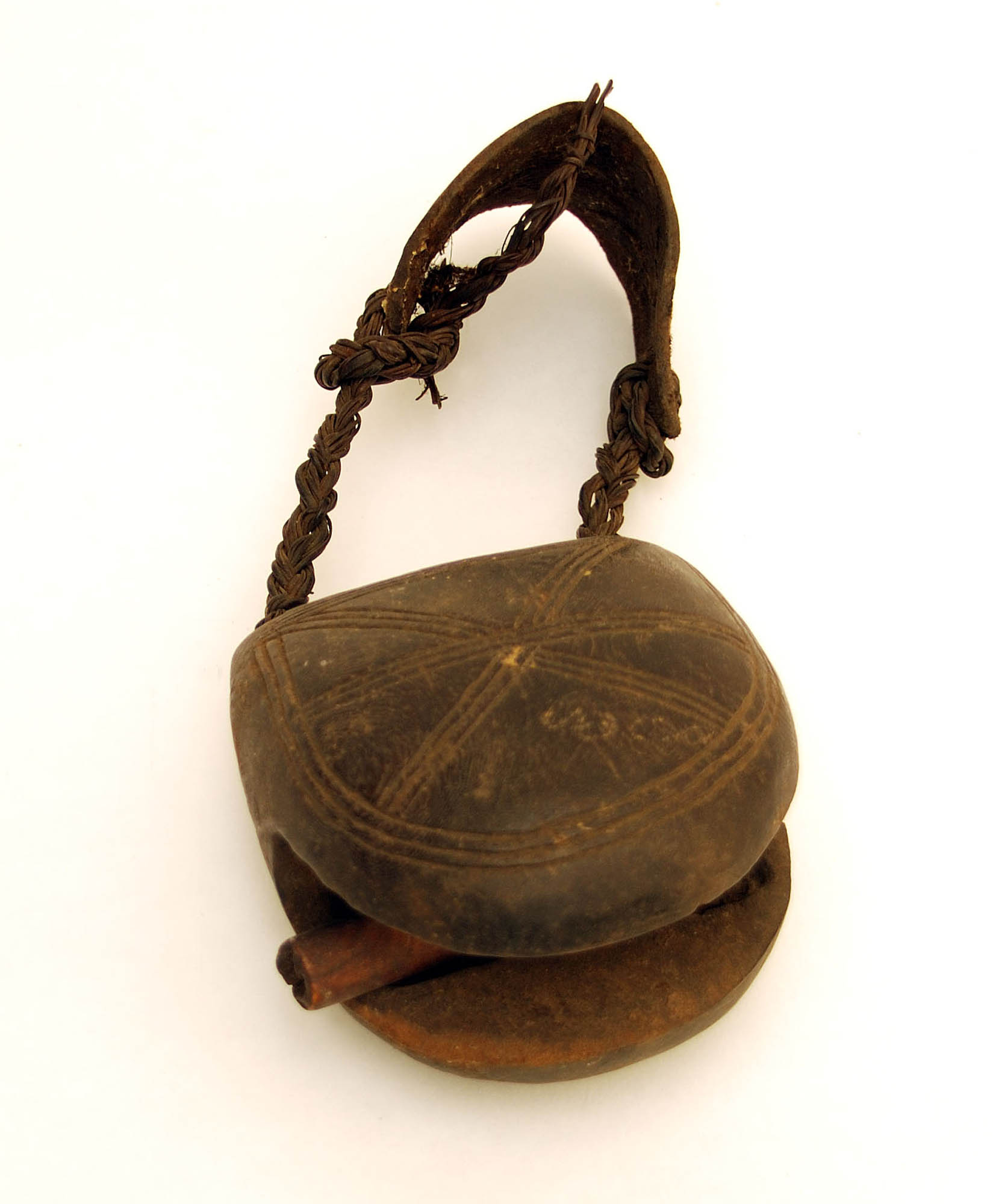 Wooden dog bell