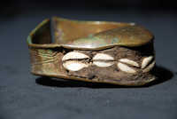 Decorated brass anklet