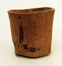 Small wooden pot