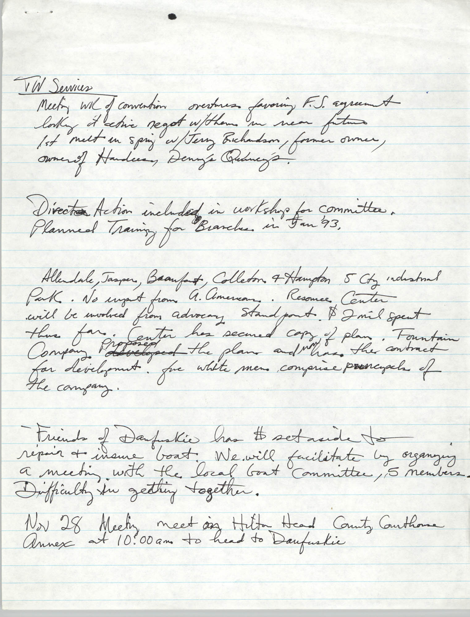 Notes, Charleston Branch of the NAACP, 1993