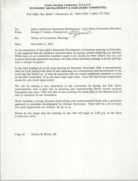 Economic Development and Fair Share Committee Memorandum, November 6, 1992