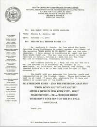 South Carolina Conference of Branches of the NAACP Memorandum, October 18, 1993