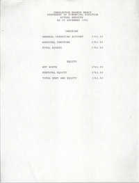 Charleston Branch of the NAACP Statement of Financial Position, December 1992